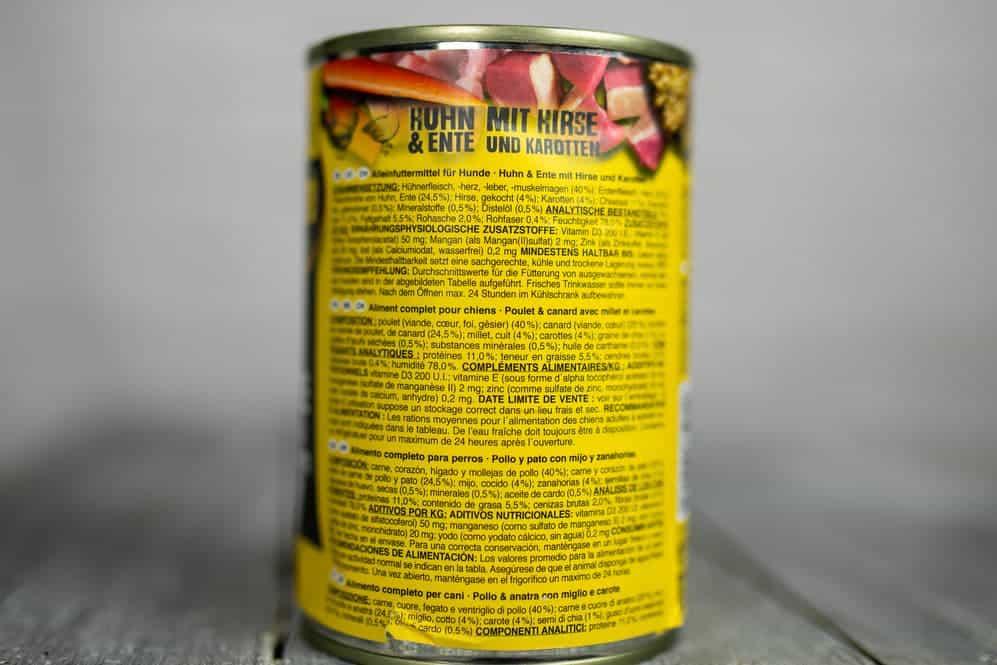Inhaltsstoffe Belcando Huhn&Ente