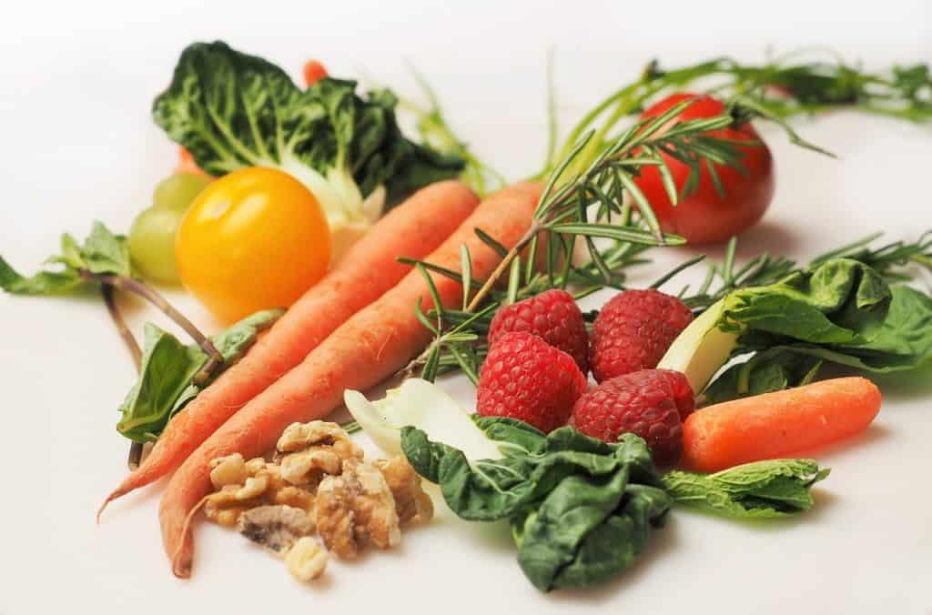 Karotten und Spinat